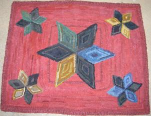 Vintage Stars pattern on linen, $115