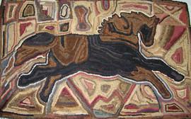 Heirloom Horse, pattern on linen, $135. 27x40