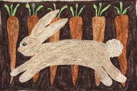 Carrot Run, pattern on linen, 20x30 $115, 27x40 $125