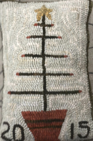 Feathertree, pattern on linen, 12x17, $58
