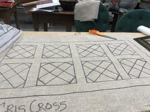 Cris Cross 16x30 $95 on linen