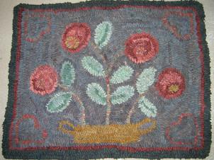 Vintage Floral, pattern on linen, $95