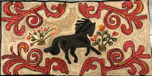 Horse and Scrolls $795 23inx46in