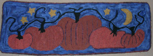 Cinderella's Pumpkin Patch, pattern on linen, 12x34, $78