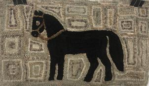 Black Beauty pattern, linen 15x25 $85