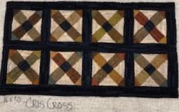 Cris Cross pattern, 16x40, $95 on linen
