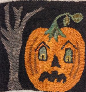 Bad Jack, pattern on linen, 14x14, $58