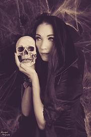 Dark Art Gothic Sexy Totenkopf