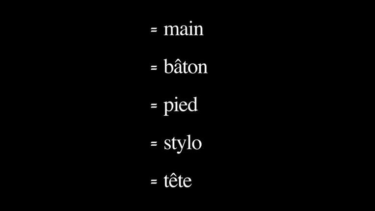 =main=bâton=pied=stylo=tête