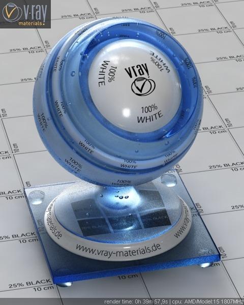 materiais para v-ray plastico