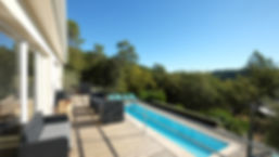 terras en zwembad