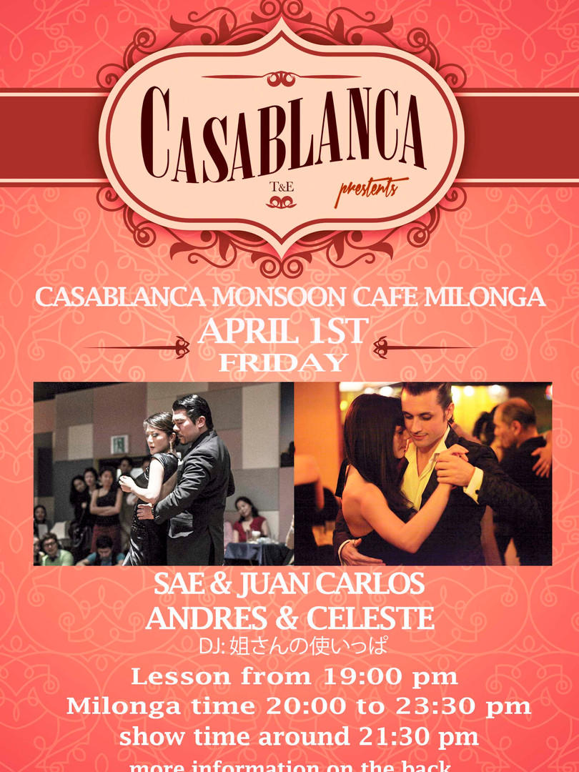 Casablanca Milonga 04.2016
