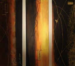 Acrylbild-Flüssiges Gold