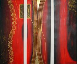 Acrylbild-Tanz des Goldes