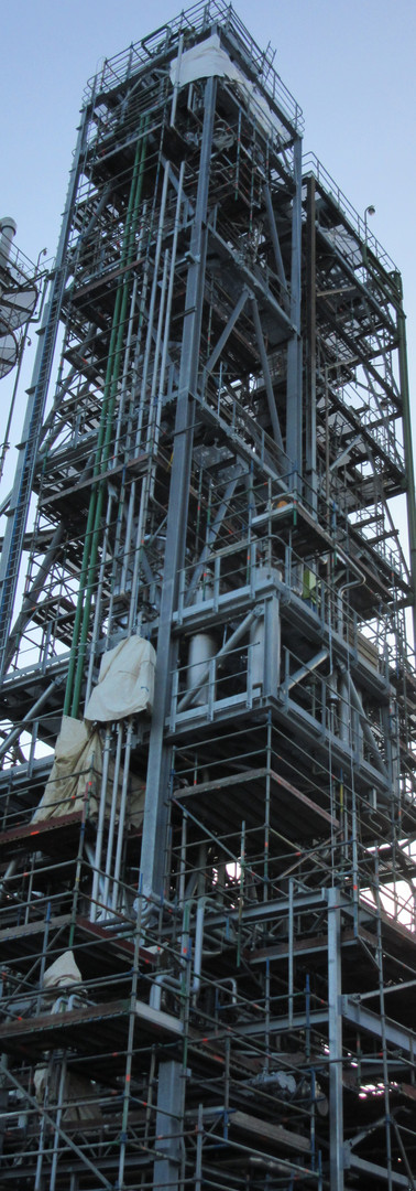 New installation distillation column