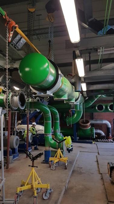 Installation of big bore collector