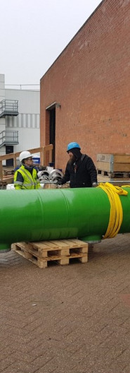 Installation of big bore pipe