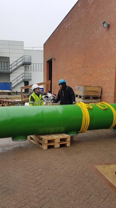 Installation of big bore pipe