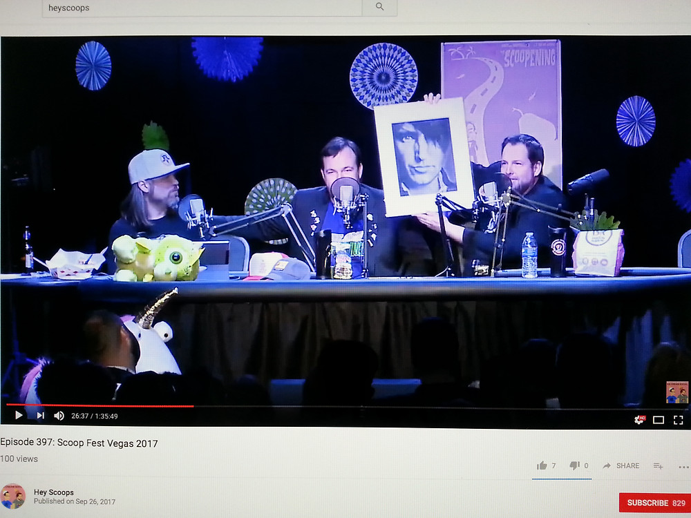 Paul Mattingly receives drawing of TRENT REZNOR