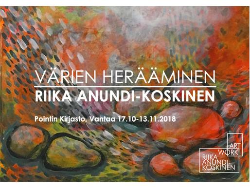 Värien herääminen - näyttely Pointin kirjastossa Vantaalla
