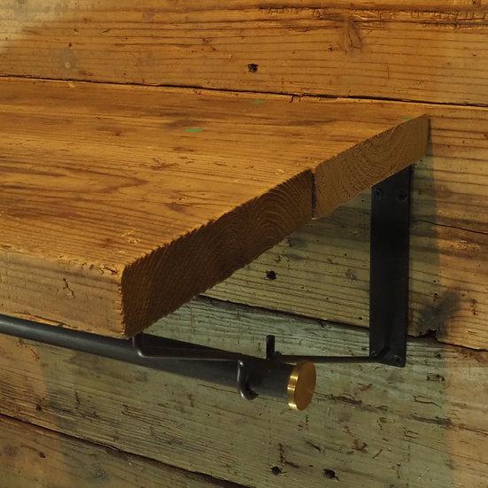 凹ブラケット用 ハンガー棒(真鍮ストッパー)