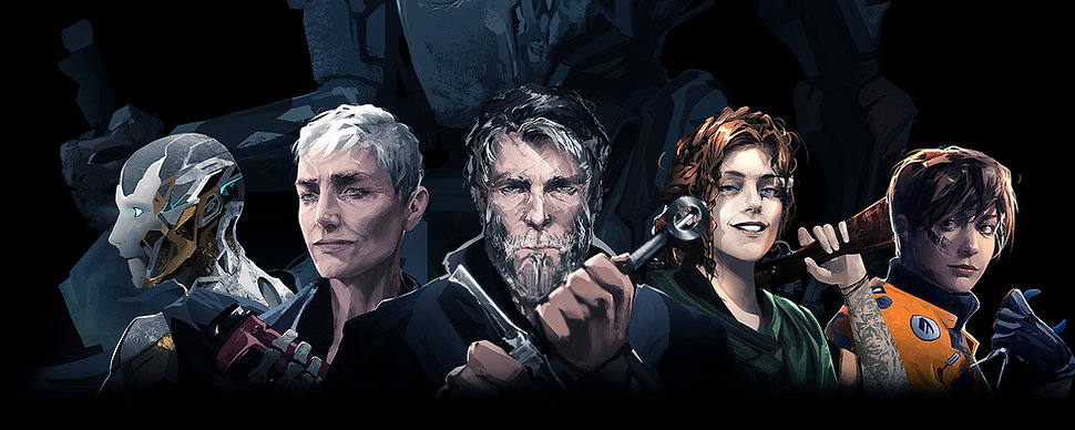 Patina Characters Fron Left to Right: Zee-o, Pallie, Wyatt, Cassidy, and Emma with the Knight in background.