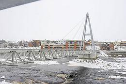 Footbridge   Petite Décharge River