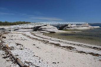Passerelles pour la réserve du parc national de l'Archipel-de-Mingan
