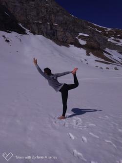 yoga neige danseur