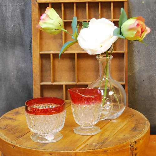 Indiana Glass Creamer & Sugar Set