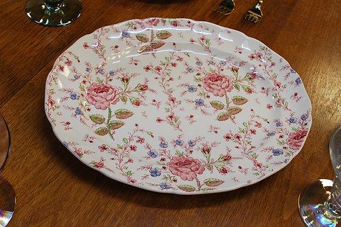 Rose Chintz Serving Platter