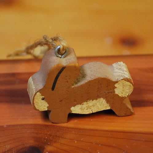 Tiny Wooden Folkart Bunny