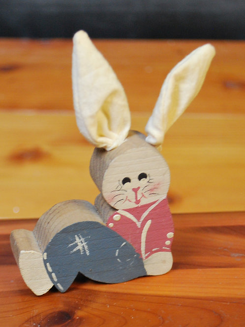 Folk Art Wooden Bunny