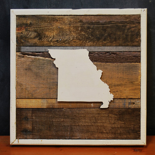 Reclaimed Wood & Metal Artwork