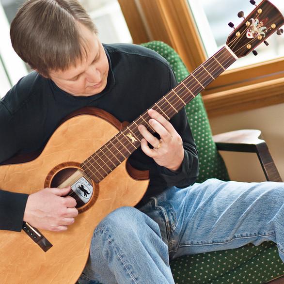 Paul and his guitar