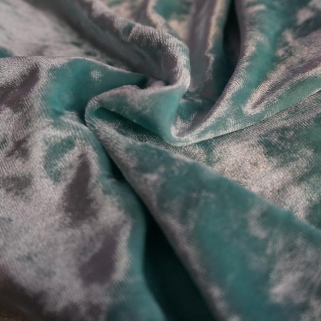 Crushed Baby Blue Velvet