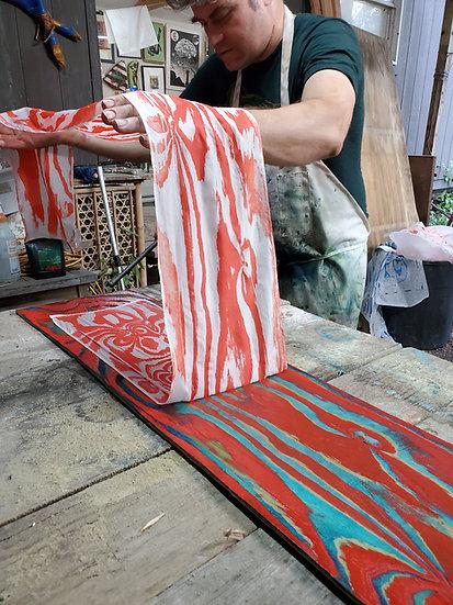 Iron Frog Press Silk Scarves Wood Grain