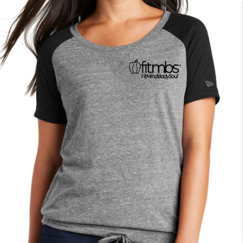 LADIES FITMBS™ NEW ERA TRI-BLEND PERFORMANCE CINCH TEE - STRONG