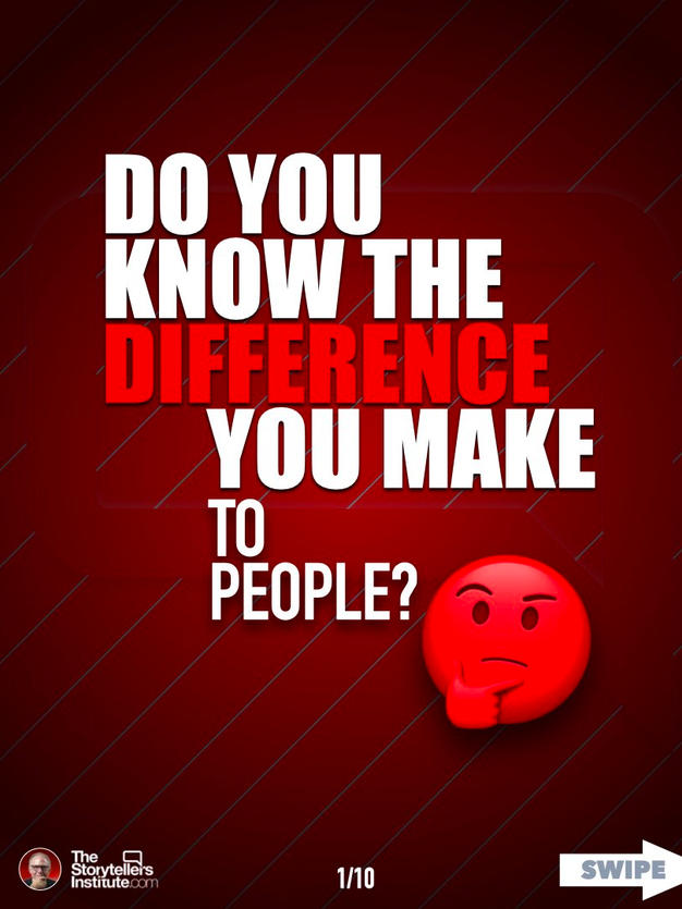 HOW TO LEARN THE DIFFRENCE YOU MAKE TO PEOPLE.