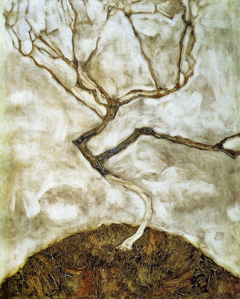 A-Tree-in-Late-Autumn-Egon-Schiele-oil-p