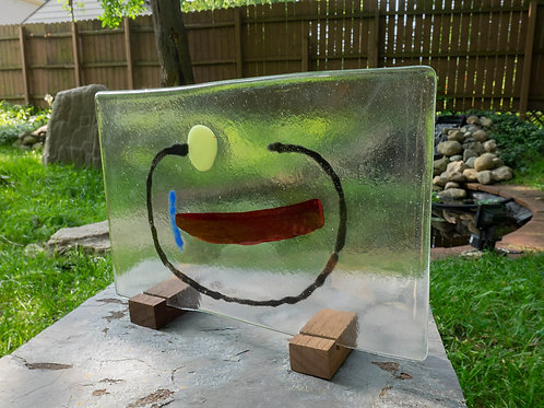 Fused Glass Sculpture, Two