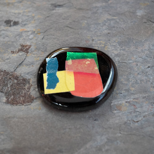 Fused Glass Brooch, #Four