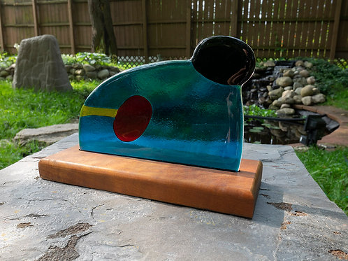 Fused Glass Sculpture, Six