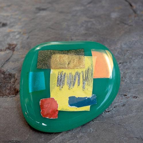 Fused Glass Brooch, #Three