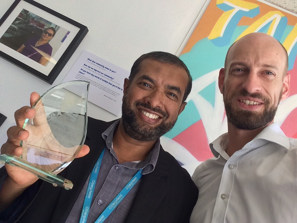 Seyed, Camille and an Auckland District Health Board Health Excellence Award
