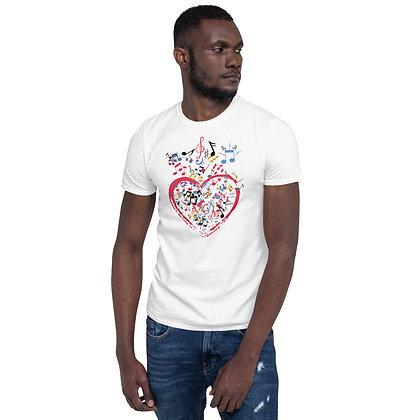 T shirt moje serce jest pełne muzyki