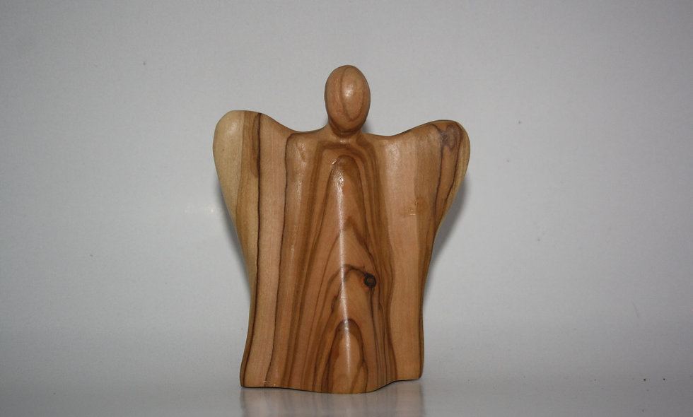 Olivewood Figures:  Angle Slapping the Devil