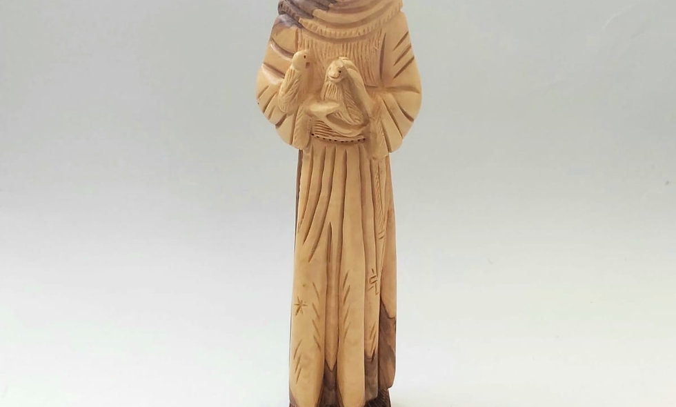 Olive Wood: St.francis Hand Made Statue