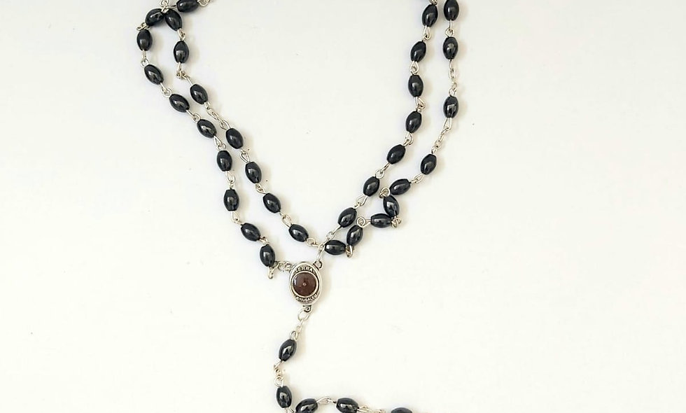 Hemmatite ROsary with Soil From Israel