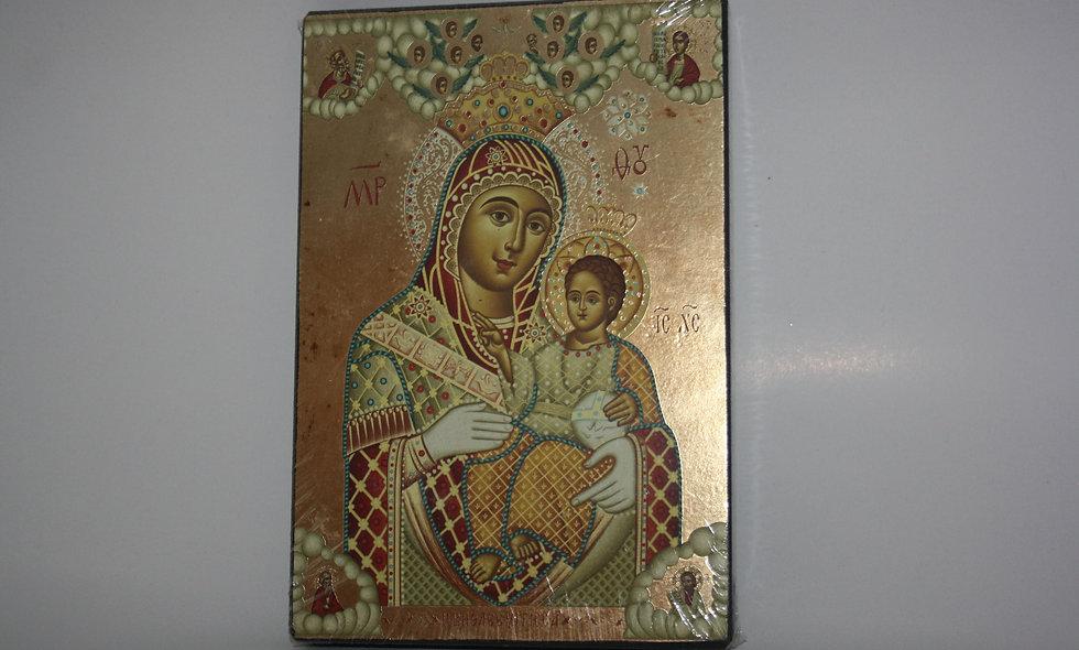Virgin mary of Bethlehem gold leaf